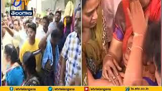 Amrutha Stopped by Relatives | Over Father Maruthi Rao Funeral @ Miryalaguda