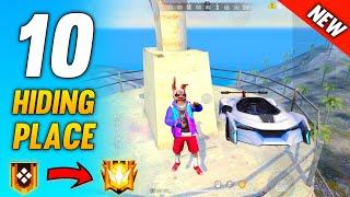 Top 10 Hidden Place In Free Fire || Free Fire Hiding place || Rank Push Tips and Tricks In Free Fire