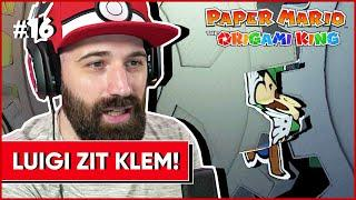 LUIGI ZIT KLEM ! | Paper Mario The Origami King #16