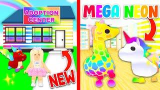 I Opened A *FREE* MEGA NEON PETS Adoption Center In Adopt Me! (Roblox)