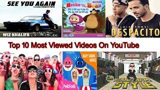 Top viewed video on youtube of all time/ World top view video on youtube/TOP 10 VIDEO  WORLD ON YT