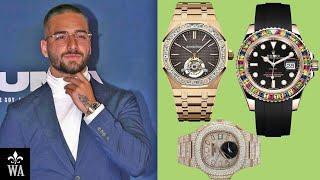Maluma Watch Collection (Rolex, Patek Philippe)