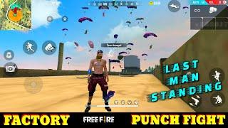 FREE FIRE FACTORY FIGHT BOOYAH 20 - FF FIST FIGHT ON FACTORY ROOF - GARENA FREE FIRE - FF FIST KING