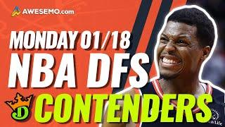 DRAFTKINGS NBA DFS PICKS TODAY | Top 10 ConTENders Mon 1/18 | NBA DFS Simulations