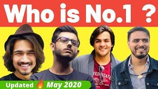 No.1 YouTuber in India| Most Subscribed Indian YouTube Channel (Updated 12th May 2020)