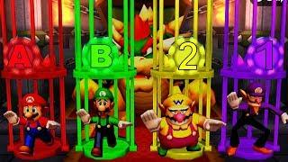 Mario Party The Top 100 MiniGames - Mario Vs Luigi Vs Wario Vs Waluigi (Master Difficulty)