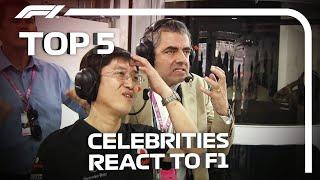 Top 5 Celebrity Reactions In F1