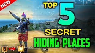 TOP 5 SECRET HIDING PLACE IN GARENA FREE FIRE || FREE FIRE TOP 5 SECRET LOCATIONS 2020