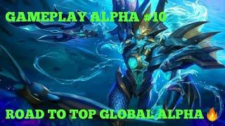 Gameplay alpha #10 road to top global alpha - THE SLASHER | MOBILE LEGEND INDONESIA