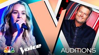 """Country Singer Emma Caroline Performs Kacey Musgraves' """"Slow Burn"""" - The Voice Blind Auditions 2021"""
