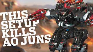 War Robots - Ares High Damage Sniper Setup Shoots Down Ao Juns! | WR MK2 Gameplay