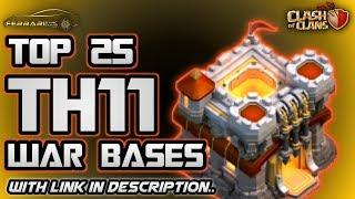 Top 25 TH11 Anti 3-star war bases - with link in description - Clash of Clans | Ferrari |