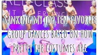 Ranking my top 10 favorite group dances based on how pretty the costumes are (read db)