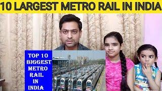 Family Reaction Top 10 Biggest Metro Rail in India| Top 10 Largest Metro system Metro Line in India