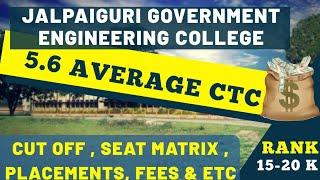 Jalpaiguri Government Engineering College|wbjee|Placements,Cut offs ,fees |College Review