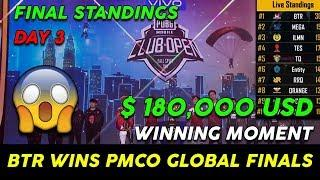 PMCO GLOBAL FINALS FINAL STANDINGS Day 3 OVERALL STANDINGS || BTR WINS PMCO GLOBAL FINALS FALL SPLIT