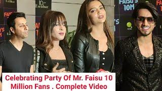 Celebration Party Of Mr. Faisu 10 Million Fans | Top Tiktokers In this Party -