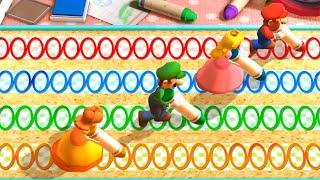 Mario Party The Top 100 MiniGames - Mario Vs Peach Vs Daisy Vs Luigi (Master Difficulty)