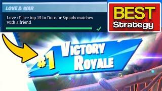 Place top 15 in Duos or Squads matches with a friend - Fortnite Love and War Challenges - Fortnite