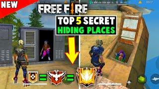 NEW TOP 5 SECRET HIDING PLACES IN GARENA FREE FIRE