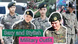 Korean Hearthrob Man In Their Military Service Outfit