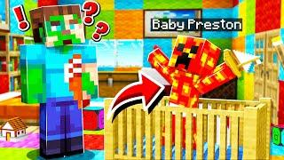 I found BABY PRESTON in my Minecraft World!