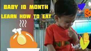 Baby 10 month learn How to eat by himself / Top baby smart 2020
