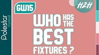 FPL Best Fixtures: Gameweek 15-17! FPL Head To Head For GW15 // Fantasy Premier League Tips