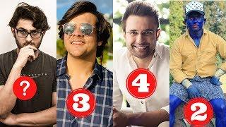 New List Of Top 10 Indian Youtubers Of 2020 | CarryMinati | ashish chanchlani | Round2hell | YALGAAR