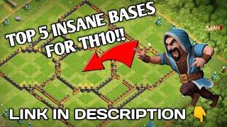 Top 5 layouts of th10 for cwl/war    Link in description 2020