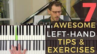 7 Awesome Tips and Exercises For a Better Left Hand [Jazz Piano Tutorial]