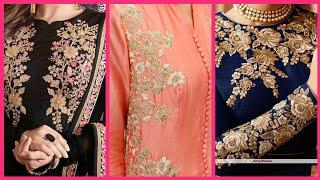 Embellished Top10! Beautiful Zari work And Gotta work designs For girls and women dresses,,,,,,