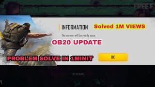 Free fire advanced server problem solve