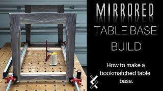 Bookmatched Table Base - How To Woodworking