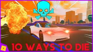 10 WAYS TO DIE IN VEHICLE SIMULATOR! | ROBLOX: Vehicle Simulator