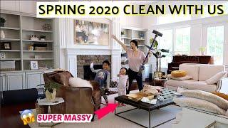SPRING CLEAN WITH US / HOUSE UPDATE | POWER HOUR SPEED CLEAN | CHARIS ❤️