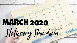 Stationery Showdown | March 2020 Bullet Journal Plan With Me