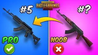 Top 10 Powerful Guns/Weapons in PUBG MOBILE with (Tips and Tricks) Weapon Guide