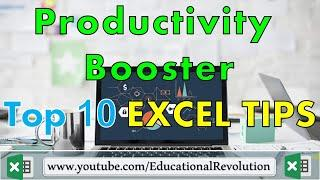 Top 10 Excel Productivity Booster Tips ~ Office Work
