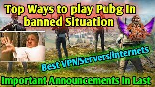 Top Ways to Play Pubg Without Ban in banned days | Important Announced For My Fans in Last | Zalmi