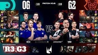 Origen vs G2 Esports - Game 3 | Round 3 PlayOffs S10 LEC Spring 2020 | OG vs G2 G3