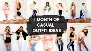 1 MONTH OF CASUAL OUTFIT IDEAS! What to Wear at Home! Loungewear Lookbook