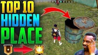 Top 10 Hidden Place& secret place for rank push!!