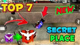 Top 7 Secret Places in Free Fire || New hidden place in free fire after update