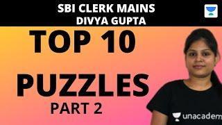 Top 10 Mains Level Puzzles for SBI CLERK MAINS 2020 (Part-2) by Divya Gupta