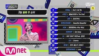 What are the TOP10 Songs in 2st week of March?#엠카운트다운   M COUNTDOWN EP.701