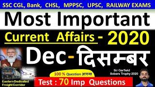 Current Affairs : December 2020   Important current affairs 2020    latest current affairs Quiz