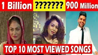 Top-10 Most Viewed Songs in India, Most Viewed Indian Bollywood Songs on YouTube  #chandanchaudhary