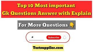Top 10 Gk questions Answer In English | Important General knowledge question | Part - 2