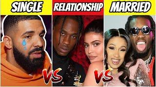 SINGLE RAPPERS vs RAPPERS IN A RELATIONSHIP vs MARRIED RAPPERS!